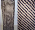 Navy Taupe Striped Maxi Skirt