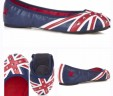"""The """"Diana"""" Red & Blue Studded Flat"""