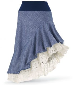 Chambray lace skirt