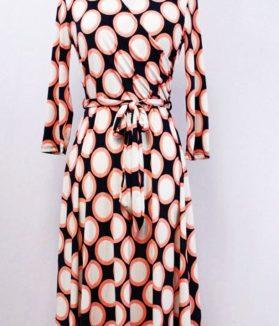 retro polka short maxi dress
