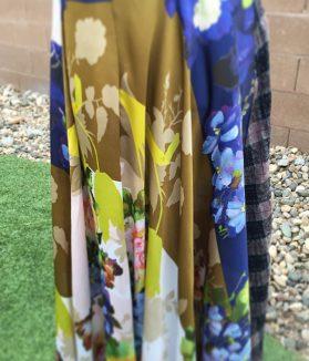 Floral Silk Maxi Skirt