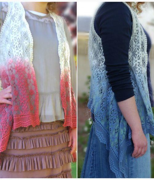 Draped Lace Vest