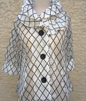 Black white stripe jacket