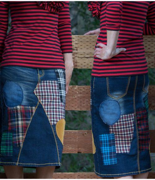 The TARTAN Plaid Denim Skirt