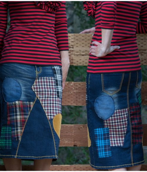 The TARTAN Plaid Denim Skirt