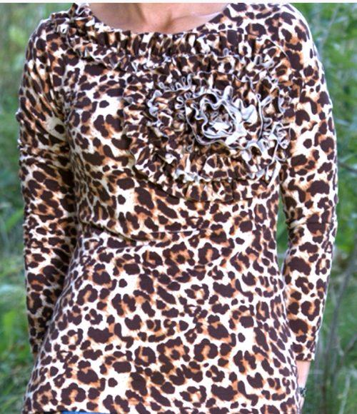 The Jadore Top Leopard