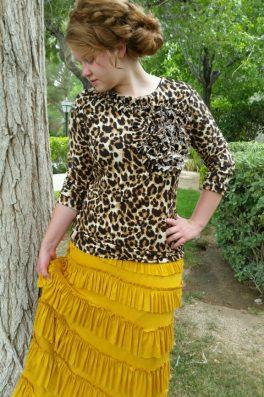 Leopard Ruffle Top ~J'adore