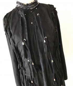 Black Fringe Jacket