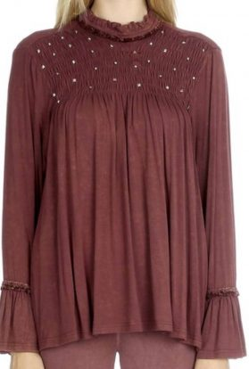 Beaded smocked top