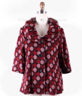 Red polka dot jacket