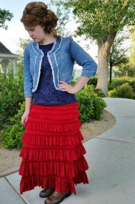 Eleganza Spring Skirt Red