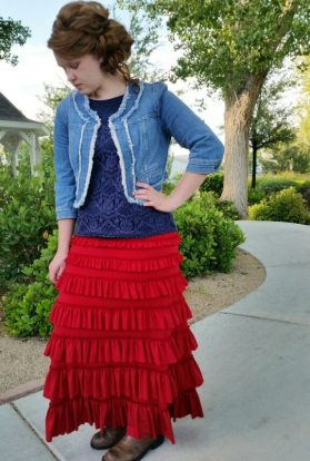 Eleganza Spring Skirt Red