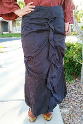 Ruche Long Maxi Skirt