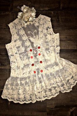 Lace Button Vest