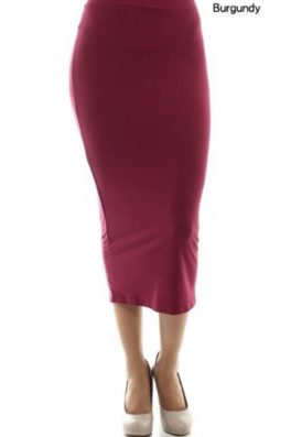Solid Everyday Pencil Skirt