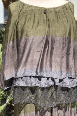 Silk Lace Ruffle Top