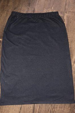 Denim Print Pencil Skirt