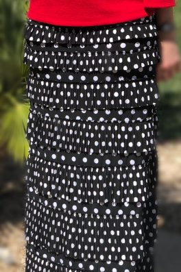 Pleated Eleganza Skirt ~ Polka Dot