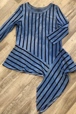 Blue Stripe Asymmetric Tunic