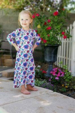 Girls Modest Swim Dress