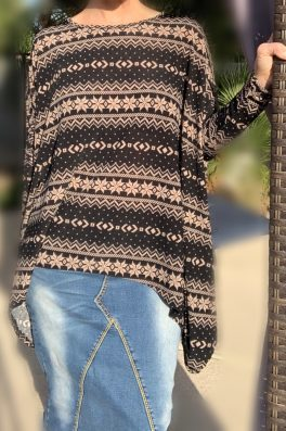 Taupe Poncho With Sleeves