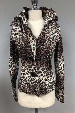Cheetah Wired Collar Jacket