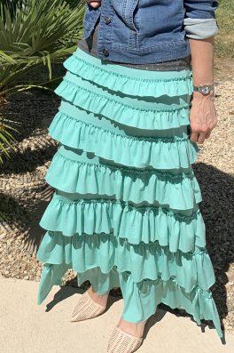 Mint Ruffle Eleganza Skirt