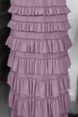 Mauve Ruffle Eleganza Skirt