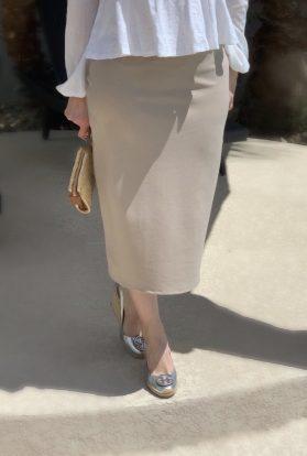 Natural modest pencil skirt