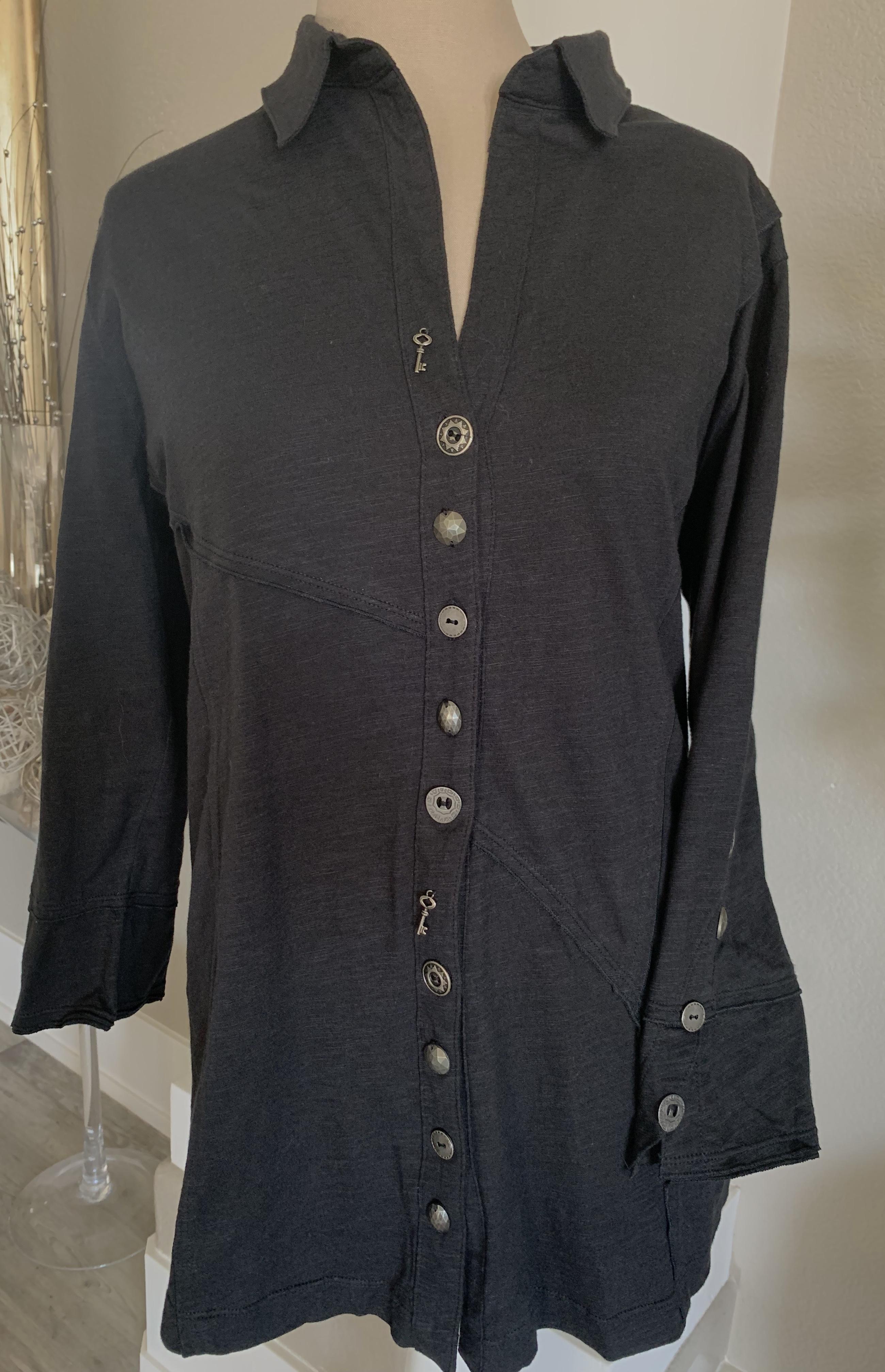 Black button down tunic