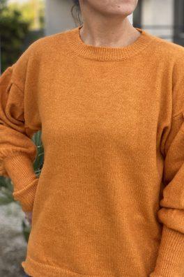 Pumpkin Sweater Drop Sleeves