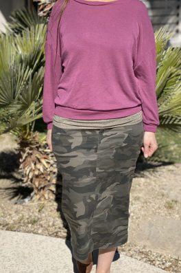Camo Stretch Twill Skirt