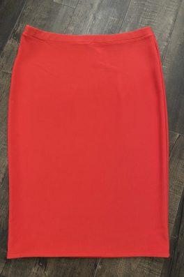 Coral Modest Pencil Skirt