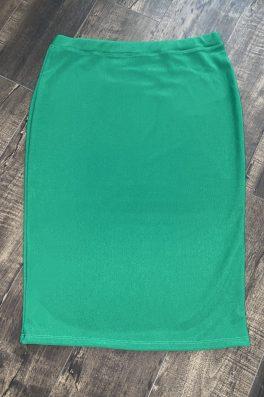 Green Modest Pencil Skirt