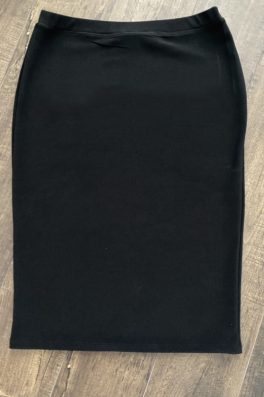 Black Modest Pencil Skirt