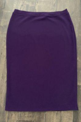 Purple Modest Pencil Skirt