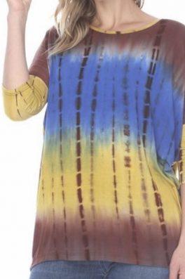 Tie Dye Dolman Sleeve Top
