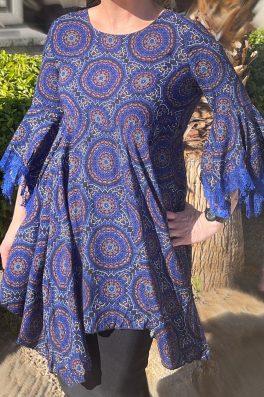 Royal Lace Kaleidoscope Sharkbite Tunic