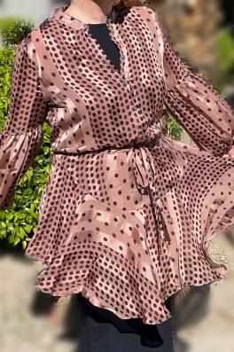 Mauve Polka Dot Tunic Dress