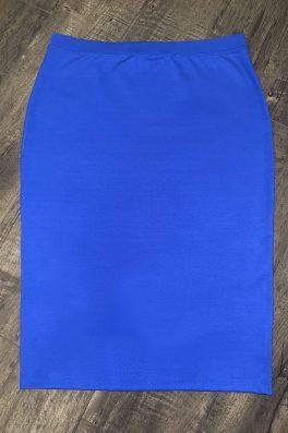 Bright Royal Blue Ponti Modest Pencil Skirt