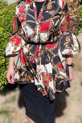 Chain Print Tunic Dress