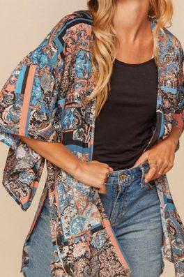 Bohemian Kimono Ruffle Sleeves