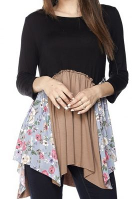 Floral Two Tone Swing Top