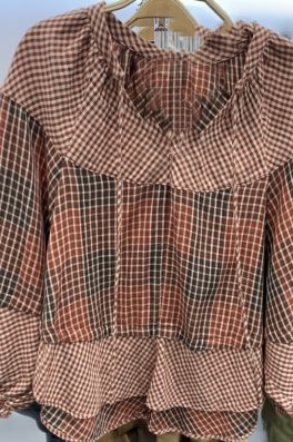 Plaid Flare Swing Top