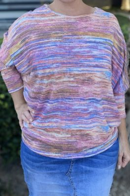 Violet Blue Dolman Sleeve Top
