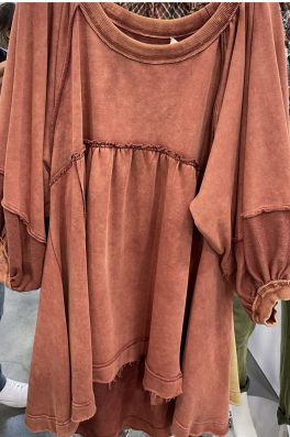 Rust Hi low Tunic Dress