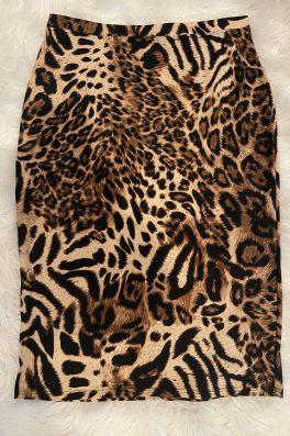 Leopard Modest Pencil Skirt