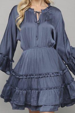 Sapphire Ruffle Tunic dress